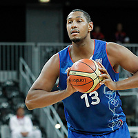 04 August 2012: France Boris Diaw passes the ball during 73-69 Team France victory over Team Tunisia, during the men's basketball preliminary, at the Basketball Arena, in London, Great Britain.