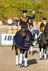 BREDOW-WERNDL Jessica von (GER), TSF Dalera BB<br /> Siegerehrung/Meisterehrung<br /> Deutsche Meisterschaft der Dressurreiter<br /> Klaus Rheinberger Memorial<br /> Nat. Dressurprüfung Kl. S**** - Grand Prix Special<br /> Balve Optimum - Deutsche Meisterschaft Dressur 2020<br /> 19. September2020<br /> © www.sportfotos-lafrentz.de/Stefan Lafrentz