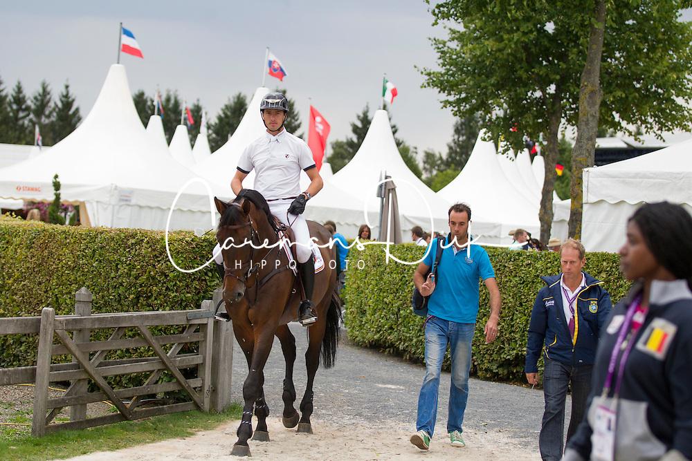 iWathelet Gregory, (BEL), Conrad de Hus<br /> Individual Final Competition round <br /> FEI European Championships - Aachen 2015<br /> © Hippo Foto - Leanjo de Koster<br /> 23/08/15