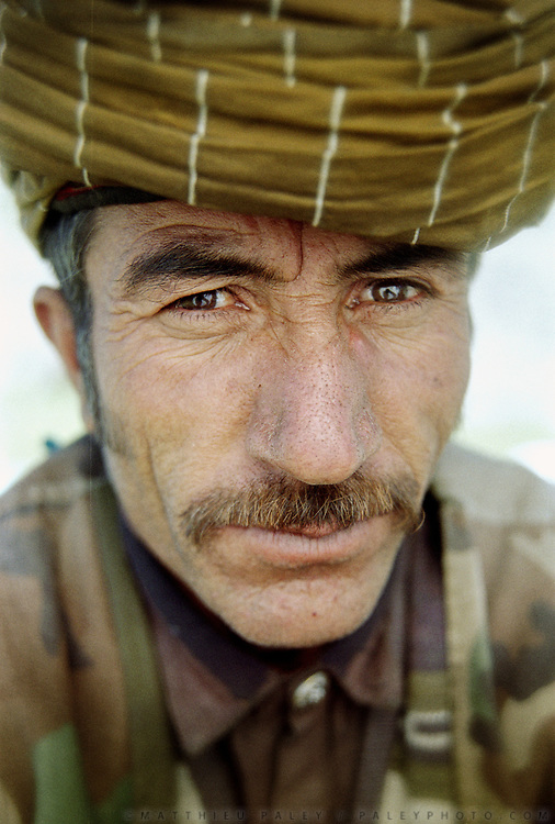 Another one of the border guard crew in Sarhad, Wakhan.<br /> <br /> Adventure through the Afghan Pamir mountains, among the Afghan Kyrgyz and into Pakistan's Karakoram mountains. July/August 2005. Afghanistan / Pakistan.