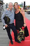 Premiere van Pirates of the Caribbean: Salazar's Revenge in het Scheepvaart Museum in Amsterdam.<br /> <br /> Op de foto:  Selma van Dijk met haar partner Tom Keizer