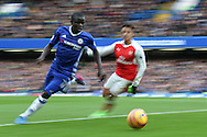 Ngolo Kante of Chelsea and Alexis Sanchez of Arsenal in action. Premier league match, Chelsea v Arsenal at Stamford Bridge in London on Saturday 4th February 2017.<br /> pic by John Patrick Fletcher, Andrew Orchard sports photography.