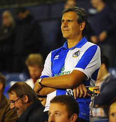 A Bristol Rovers fan watches on - Photo mandatory by-line: Seb Daly/JMP - Tel: Mobile: 07966 386802 27/09/2013 - SPORT - FOOTBALL - Roots Hall - Southend - Southend United V Bristol Rovers - Sky Bet League Two