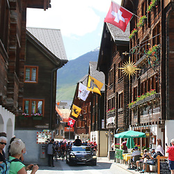 DISENTIS SEDRUM (SUI) CYCLING<br /> Tour de Suisse stage 5<br /> Start of the stage