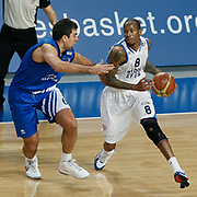 Anadolu Efes's Terence Kinsey (R) during their Turkish Basketball League match Anadolu Efes between Turk Telekom at Arena in Istanbul, Turkey, Wednesday, January 04, 2012. Photo by TURKPIX