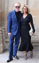 Chris Evans und Natasha Shishmanian  beim Gedenkgottesdienst f¸r Terry Wogan im Westminster Abbey in London / 270916<br /> <br /> ***Memorial service for Terry Wogan at Westminster in London, September 27th, 2016***