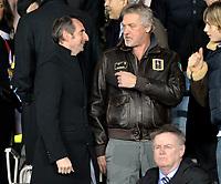 Il Presidente della Juventus Jean-Calude Blanc con Stefano Tacconi<br /> Torino 25/02/2010 Stadio Olimpico<br /> Juventus Ajax - UEFA Europa League 2009-10.<br /> Foto Giorgio Perottino / Insidefoto