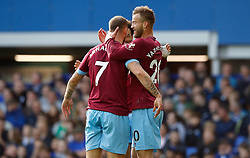 West Ham United's Andriy Yarmolenko (right) celebrates scoring his side's first goal of the game with team-mates