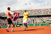 Roland Garros. Paris, France. June 3rd 2006..Paul-Henri Mathieu against Rafael Nadal.