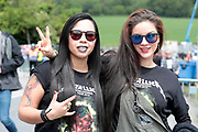 NO FEE PICTURES                                                                                                                                                8/6/19 Luz Escalante and Teresa Madriz, Venezuela pictured at Metallica's sold out concert, with 75,000 fans at Slane Castle in Co Meath. Picture: Arthur Carron
