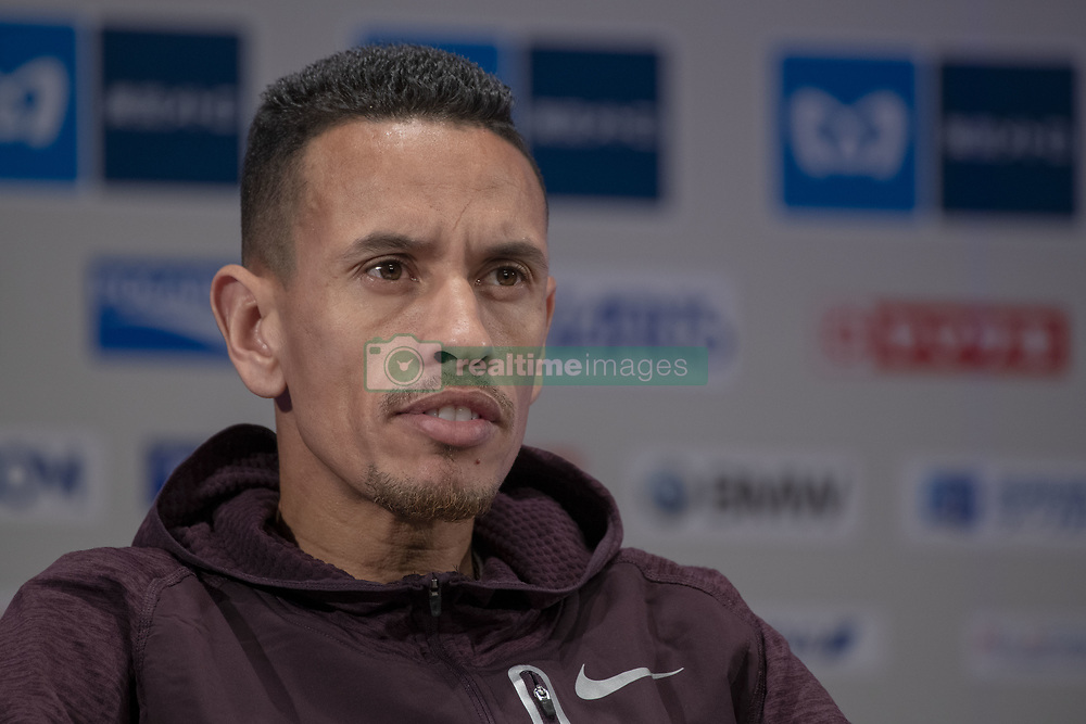 March 1, 2019 - Tokyo, Tokyo, Japan - Bahrain's El Hassan El-Abbassi speaks during a press conference ahead of the Tokyo Marathon in Tokyo on March 1, 2019. The annual Tokyo Marathon will be held on March 3. (Credit Image: © Alessandro Di Ciommo/NurPhoto via ZUMA Press)