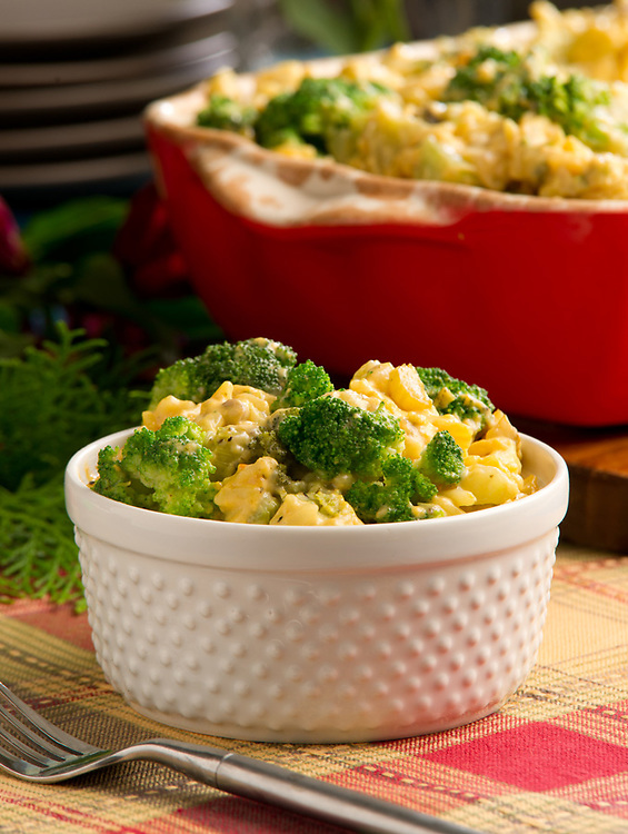 Broccoli side dish recipe photography for a cook book
