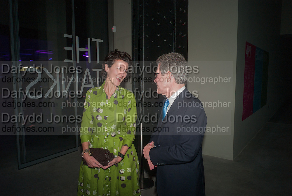 MELANIE CLORE; LORD BROWNE, The Tanks at Tate Modern, opening. Tate Modern, Bankside, London, 16 July 2012