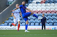 GOAL Aaron Wilbraham watches as his shot goes in from 30 years out during the EFL Sky Bet League 1 match between Rochdale and Portsmouth at Spotland, Rochdale, England on 29 September 2018.