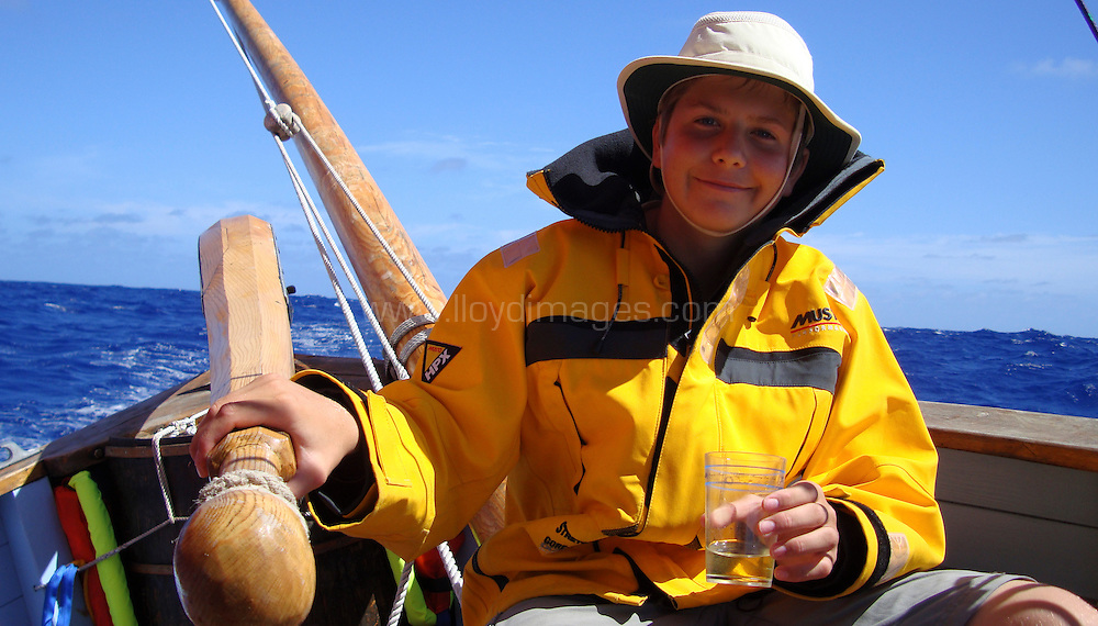 Pictures of life on board the Spirit of Mystery as she sails on the first part of her voyage from Newlyn, Cornwall to Cape Town, South Africa...Pete Goss and his crew made up of family members: Elliot Goss, Mark Maidment and Andy Goss are following in the footsteps of the original 1854 voyage to Melbourne. Australia.Please credit all pictures: Pete Goss/Spirit of Mystery/Lloyd Images