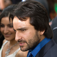 SHEFFIELD, UNITED KINGDOM - 9th June 2007: Bollywood actor Saif Ali Khan and sister Soha at International Indian Film Academy Awards (IIFAs) at the Sheffield Hallam Arena on June 9, 2007 in Sheffield, England..