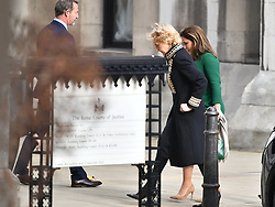 © Licensed to London News Pictures. 12/11/2019. London, UK. Princess Haya Bint Al Hussein is seen arriving at The Family Court devision of the Royal Courts of Justice in London where Sheikh Mohammed bin Rashid Al Maktoum and his wife  Princess Haya Bint Al Hussein are currently in legal dispute over custody of thir children. Princess Haya Bint Al Hussein has applied for a protection order and is seeking wardship of her children. Photo credit: Ben Cawthra/LNP