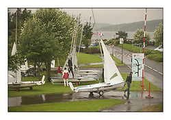 470 Class European Championships Largs - .Preparations in the dinghy Park