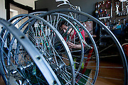 Lugano, Gianluca Zaghi, Vintage Speed Bicycles. Gianluca Zaghi's company, Vintage Speed Bicycles, rebuilds and restores classic racing bikes made by the great Italian, French, and Swiss frame builders of the 1950s-70s.<br /> <br /> From his workshop near Lugano, Gianluca keeps contact with a growing worldwide community of devotees of these beautiful, fascinating machines.