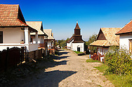Main Street of Hollók? ( Holoko ) Paloc ethnographic village. Hungary .<br /> <br /> Visit our HUNGARY HISTORIC PLACES PHOTO COLLECTIONS for more photos to download or buy as wall art prints https://funkystock.photoshelter.com/gallery-collection/Pictures-Images-of-Hungary-Photos-of-Hungarian-Historic-Landmark-Sites/C0000Te8AnPgxjRg