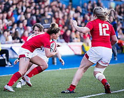 Jess Kavanagh of Wales<br /> <br /> Photographer Simon King/Replay Images<br /> <br /> Six Nations Round 3 - Wales Women v England Women - Sunday 24th February 2019 - Cardiff Arms Park - Cardiff<br /> <br /> World Copyright © Replay Images . All rights reserved. info@replayimages.co.uk - http://replayimages.co.uk