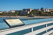 San Clemente Pier and Informational Sign of North Facing View