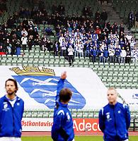 Adeccoligaen<br /> Bislett Stadion 25.10.09<br /> Skeid - Haugesund<br /> <br /> Haugesunds supportere , Måkeberget , hyller Eirik Mæland<br /> <br /> Foto : Eirik Førde