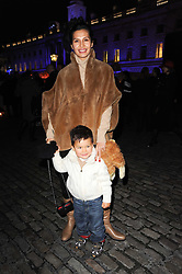GOGA ASHKENAZI and her son ADAM at Skate presented by Tiffany & Co at Somerset House, London on 22nd November 2010.