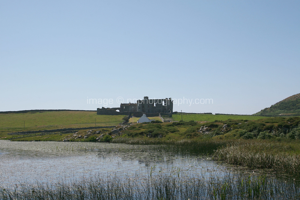 Castle near Ballyconneely Connemara County Galway Ireland