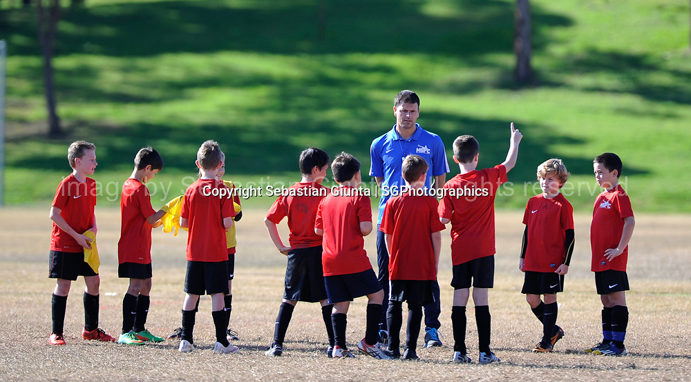 Mile Sterjovski Football Clinic carried out during the school holidays June 2015. Photo by Sebastian Giunta | sgphotographics.com