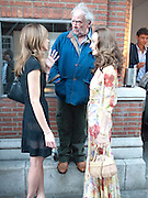 HEATHER KERZNER; DAVID BAILEY; CATHERINE BAILEY. DAVID BAILEY: THEN.-private view of an exhibition of photographs. Hamiltons. London. 6 July 2010. -DO NOT ARCHIVE-© Copyright Photograph by Dafydd Jones. 248 Clapham Rd. London SW9 0PZ. Tel 0207 820 0771. www.dafjones.com.
