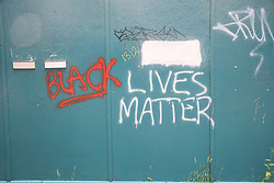 Black Lives Matters graffiti, Bristol UK July 2021