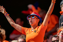 15-06-2019 FRA: Netherlands - Cameroon, Valenciennes<br /> FIFA Women's World Cup France group E match between Netherlands and Cameroon at Stade du Hainaut / Dutch support, Orange