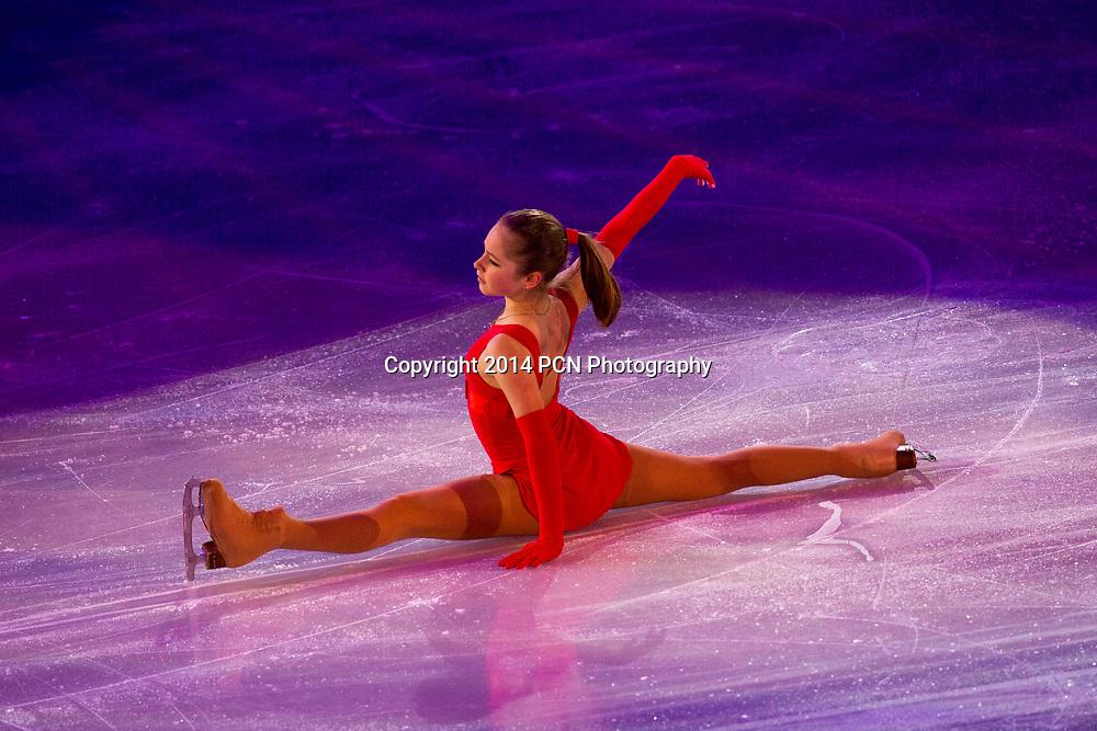 Yulia Lipnitskaia (RUS) performing in the Figure Skating Gala Exhibition at the Olympic Winter Games, Sochi 2014