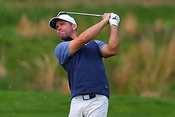 May 15, 2019 - Farmingdale, NY, U.S. - FARMINGDALE, NY - MAY 15:  Paul Casey of England hits on the on the 18th fairway during the PGA Championship on May 15, 2019 at Bethpage State Park the Black Course in Farmingdale, NY.  (Photo by Rich Graessle/Icon Sportswire) (Credit Image: © Rich Graessle/Icon SMI via ZUMA Press)
