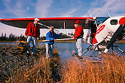 Alaska. Kenai Peninsula. Fly Fishers ready to flyout. PLEASE CONTACT US FOR DIGITAL DOWNLOAD AND PRICING.