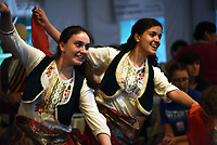 Members of the ValleTona youth group perform traditional dances together with local participants at the 14th Annual Albanian Festival on Saturday, June 8th, 2019 in Waterbury, CT. The Albanian American Muslim Community established itself in Waterbury in the early 1950's.