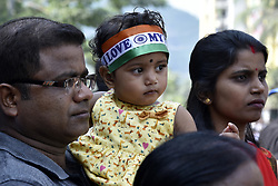 October 21, 2018 - Guwahati, Assam, India - Indian team supporter outside the Barsapara Cricket Stadium in the day of India vs West Indies one day international cricket match in Guwahati, Assam, India on Sunday, October 21, 2018. (Credit Image: © David Talukdar/NurPhoto via ZUMA Press)