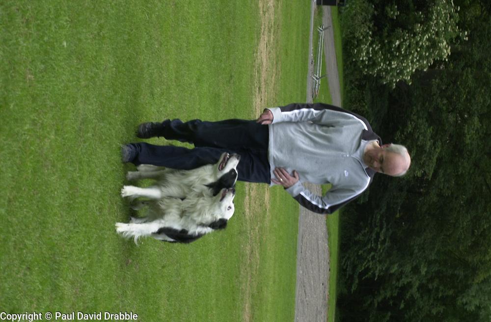 Eddie Sander with his Dogs Jackson and Inka<br /><br />18 June 2004<br /><br />Copyright Paul David Drabble<br /> [#Beginning of Shooting Data Section]<br />Nikon D1 <br /> Focal Length: 80mm<br /> Optimize Image: <br /> Color Mode: <br /> Noise Reduction: <br /> 2004/06/18 09:40:09.0<br /> Exposure Mode: Manual<br /> White Balance: Auto<br /> Tone Comp: Normal<br /> JPEG (8-bit) Fine<br /> Metering Mode: Center-Weighted<br /> AF Mode: AF-S<br /> Hue Adjustment: <br /> Image Size:  2000 x 1312<br /> 1/200 sec - F/7.1<br /> Flash Sync Mode: Not Attached<br /> Saturation: <br /> Color<br /> Exposure Comp.: 0 EV<br /> Sharpening: Normal<br /> Lens: 80-200mm F/2.8<br /> Sensitivity: ISO 200<br /> Image Comment: <br /> [#End of Shooting Data Section]