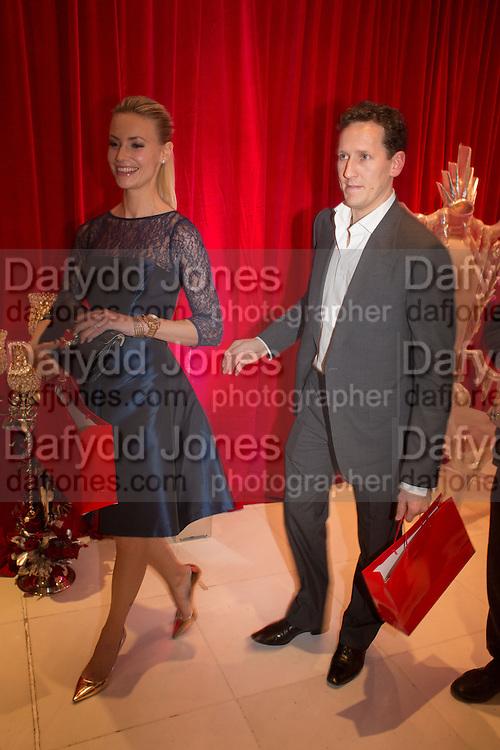 BRENDAN COLE; ZOE HOBBS, Pre -drinks at the St. Martin's Lane Hotel before a performance of the English National Ballet's Nutcracker: London Coliseum.12 December 2013