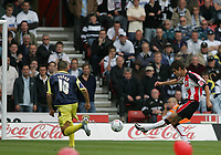 Photo: Lee Earle.<br /> Southampton v Derby County. Coca Cola Championship. Play Off Semi Final, 1st Leg. 12/05/2007.Southampton's Andrew Surman (R) scores their opening goal.