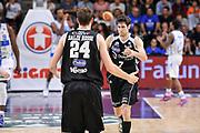 DESCRIZIONE : Campionato 2014/15 Dinamo Banco di Sardegna Sassari - Dolomiti Energia Aquila Trento Playoff Quarti di Finale Gara4<br /> GIOCATORE : Davide Pascolo Filippo Baldi Rossi<br /> CATEGORIA : Fair Play Ritratto Esultanza<br /> SQUADRA : Dolomiti Energia Aquila Trento<br /> EVENTO : LegaBasket Serie A Beko 2014/2015 Playoff Quarti di Finale Gara4<br /> GARA : Dinamo Banco di Sardegna Sassari - Dolomiti Energia Aquila Trento Gara4<br /> DATA : 24/05/2015<br /> SPORT : Pallacanestro <br /> AUTORE : Agenzia Ciamillo-Castoria/L.Canu