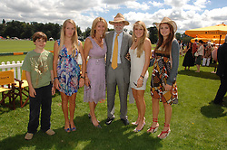 Left to right, the HON.PERRY PEARSON, the HON.EMILY PEARSON, VISCOUNT & VISCOUNTESS COWDRAY, the HON.ELIZA PEARSON and the HON.CATRINA PEARSON at the final of the Veuve Clicquot Gold Cup 2007 at Cowdray Park, West Sussex on 22nd July 2007.<br />