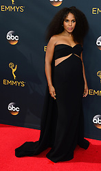September 18, 2016 - Los Angeles, California, United States - Kerry Washington arrives at the 68th Annual Emmy Awards at the Microsoft Theater in Los Angeles, California on Sunday, September 18, 2016. (Credit Image: © Michael Owen Baker/Los Angeles Daily News via ZUMA Wire)
