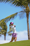 18 APR15 German Sandra Gal during Saturday's Final Round of The LOTTE Championship at The Ko Olina Golf Club in Kapolei, Hawaii. (photo credit : kenneth e. dennis/kendennisphoto.com)