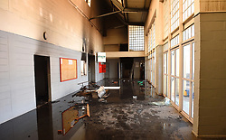South Africa - Cape Town - 19 July 2020 - Desmond Mpilo Tutu hall in Makhaza Khayelitsha was set alight  allegedly by protesting land invaders, who were chased away from the land by the Law Enforcement officers.The hall was used for sporting activities like indoor soccer and basketball,also used by health care workers who were assisting with the covid tests.Also the office of the concillor is at this place.Picture :Phando Jikelo/African News Agency(ANA)