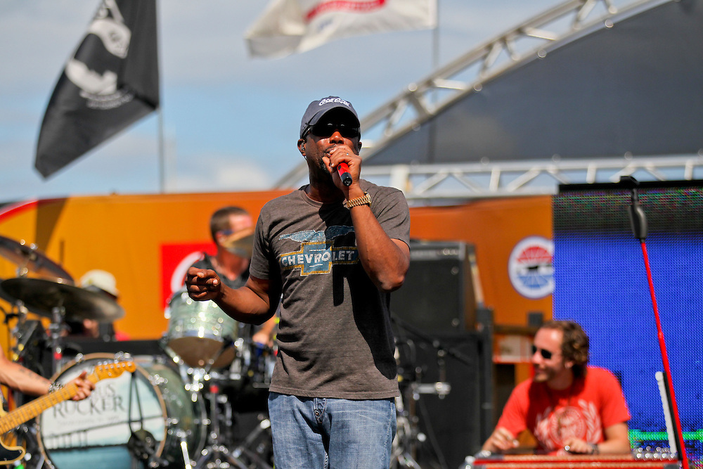 May 24, 2012; Concord, NC USA; Darius Rucker performs prior to the the Coca-Cola 600 at Charlotte Motor Speedway. Photo by Kevin Liles/kevindliles.com