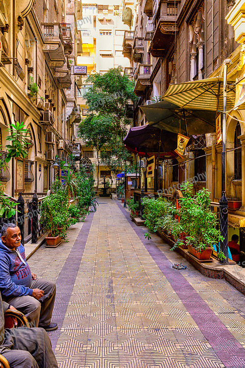 Concourse in the El-Nekhely Electronics Mall in the Bab Al Louq neighbourhood of downtown Cairo