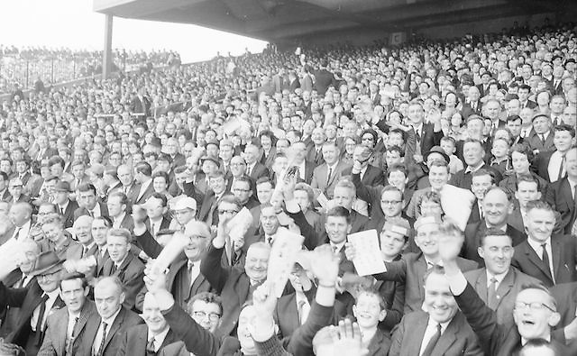 Wild supporters all set for a hectic game at the Galway v. Meath All Ireland Senior Gaelic Football Final, 25th September 1966. Galway 1-10 Meath 0-7.