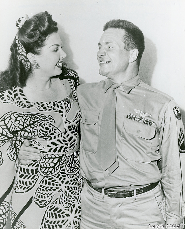 1944 Ann Miller with a serviceman at the Hollywood Canteen.